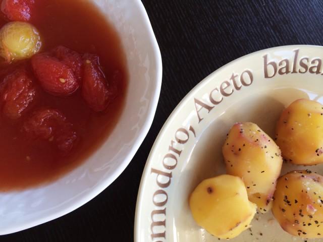 トマトのピクルスとアンデスポテト