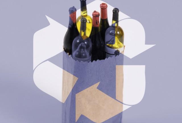 ワイン瓶再利用