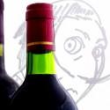 ワインボトルで描かれたダリの肖像-南仏ペルピニャン