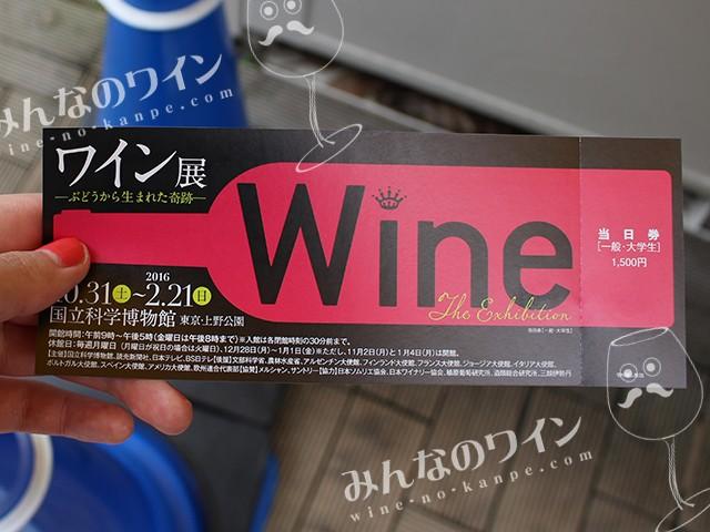 ワイン展 チケット
