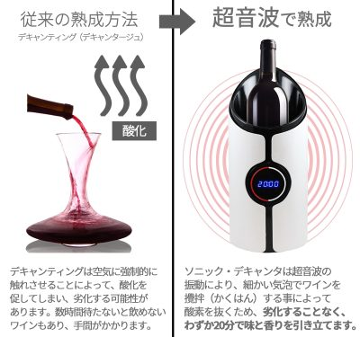 超音波でワインの熟成促進!『ソニック・デキャンタ』