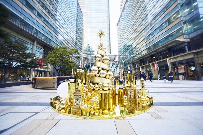 """耀くシャンパンゴールドの世界へ…""""MOET CHRISTMAS MARCHE 2017"""" 六本木・東京ミッドタウンで期間限定オープン"""