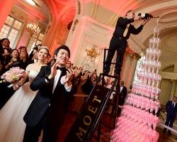モエ アンペリアルのシャンパンタワーが祝福!世界的ピアニスト ラン・ラン氏のヴェルサイユ宮殿ウェディングパーティ