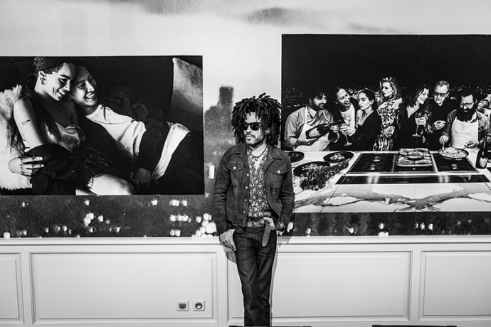 レニー・クラヴィッツがドン ペリニヨンとのコラボレーション写真展開催を記念し原宿にてパーティーを主催