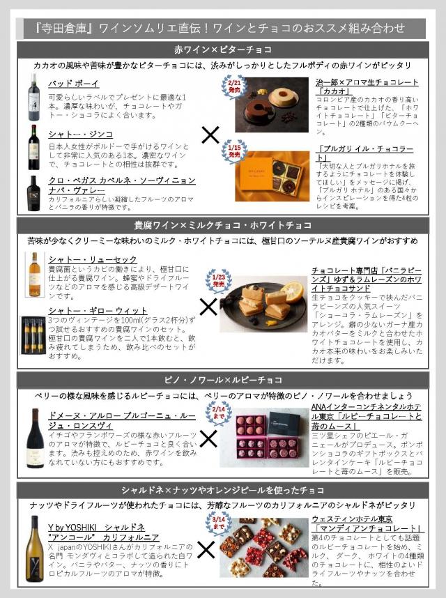 【寺田倉庫】バレンタイン×ワイン