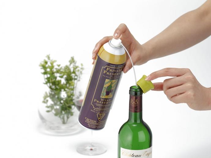 スプレー3秒でワインの風味をキープ!『プライベートプリザーブ』