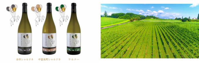 北海道の2つのテロワールを飲み比べできる!中富良野産と余市産のワイン3種発売