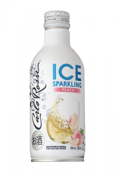 ボトル缶入りで気軽に楽しめる『カルロ ロッシ ICE スパークリング ピーチ』期間限定新発売