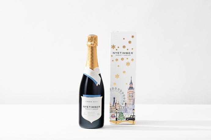 英国最高峰スパークリングワイン「ナイティンバー」から『クリスマス・ギフト・ボックス2020』登場