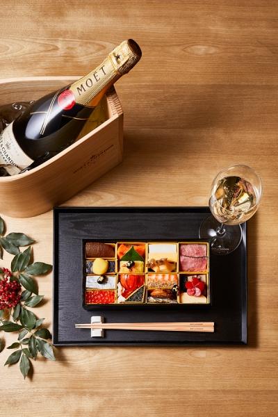シャンパンとおせちで楽しむ新年♪「モエ アンペリアル」×「北大路 板前手作りおせち」数量限定販売