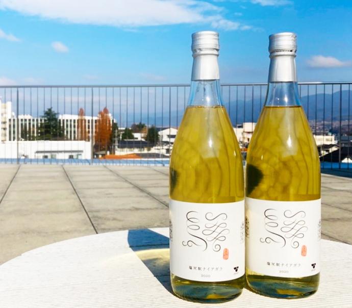 駅構内で栽培された葡萄で造ったワイン第2弾!『塩尻駅ナイアガラ2020』235本限定販売