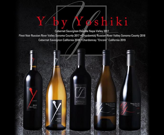 YOSHIKIプロデュースのプレミアムワイン『Y by YOSHIKI』新作5種リリース